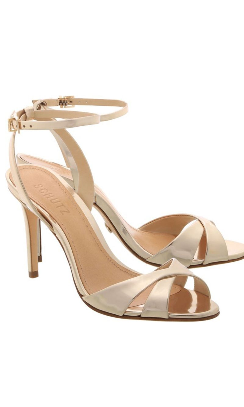 Gold leather classic comfortable evening sandals - SCHUTZ