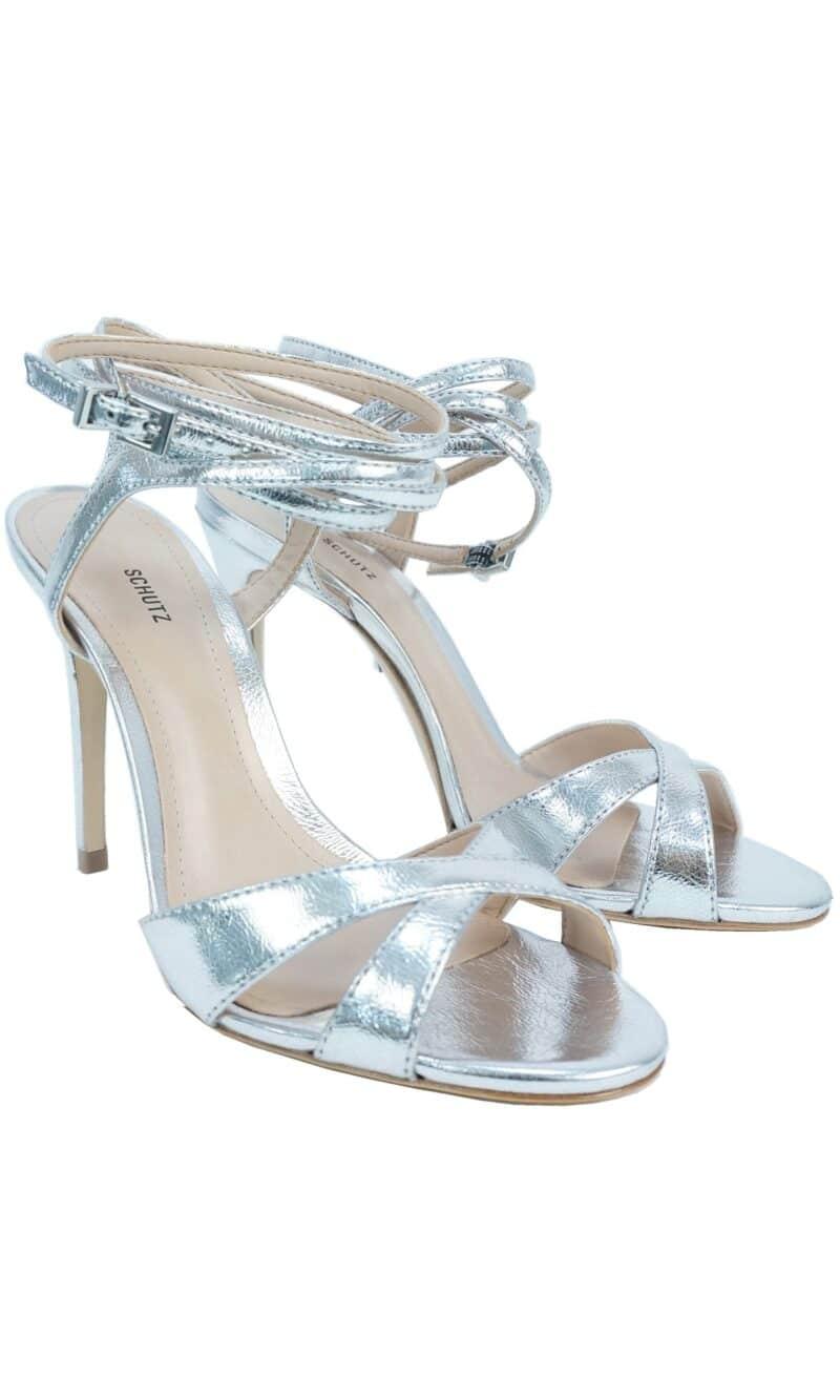 Silver patent leather classic evening sandals - SCHUTZ