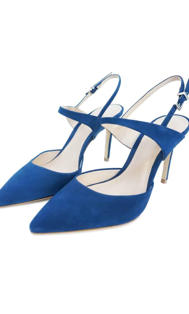 Blue suede leather comfortable stiletto shoes - SCHUTZ