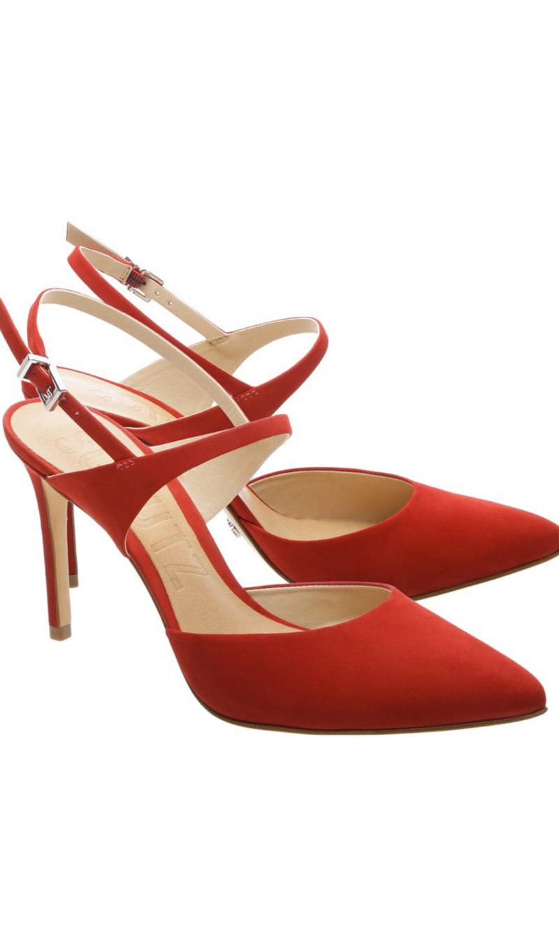 Red suede leather comfortable stiletto shoes - SCHUTZ