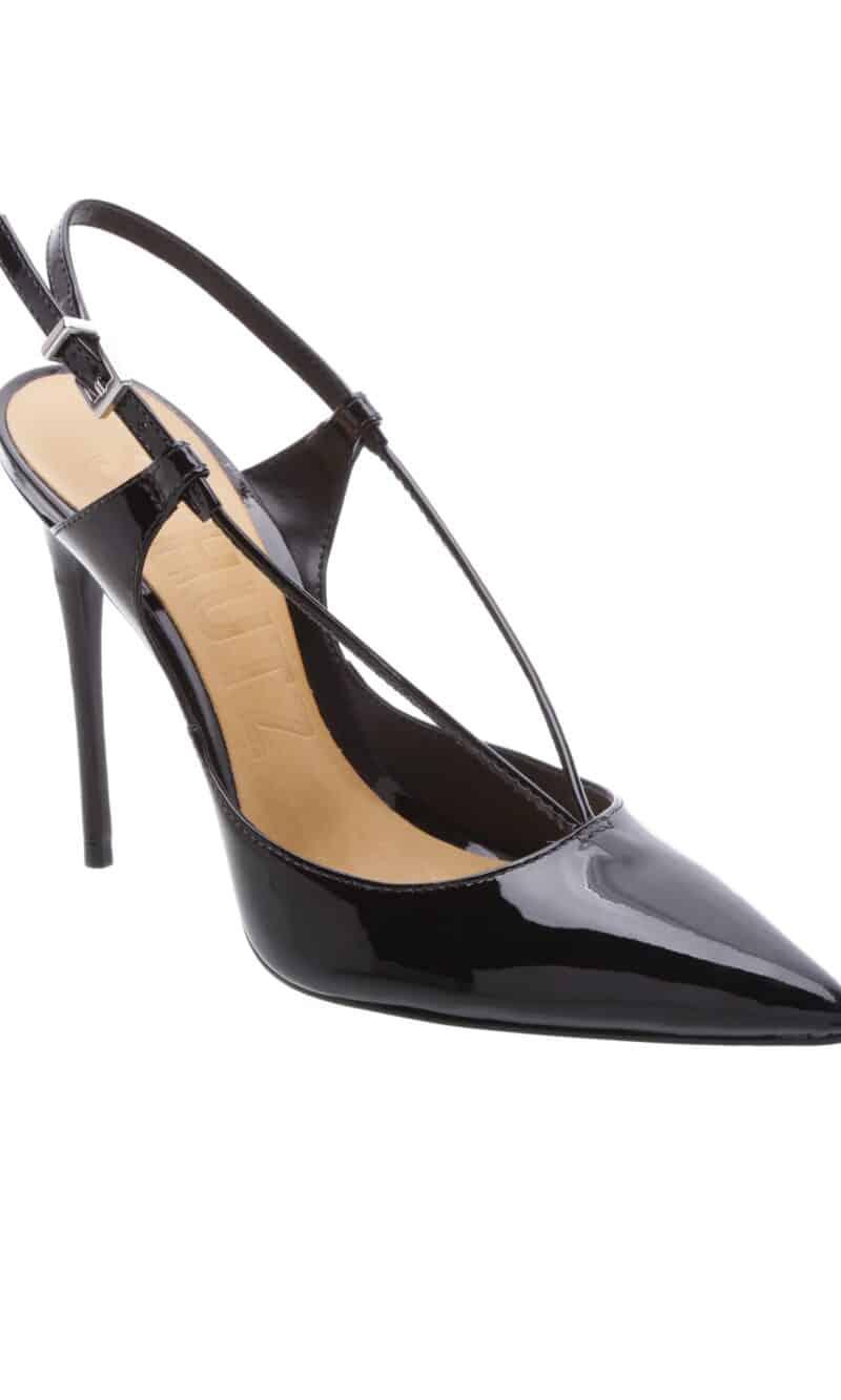 Black patent leather stiletto heels - SCHUTZ