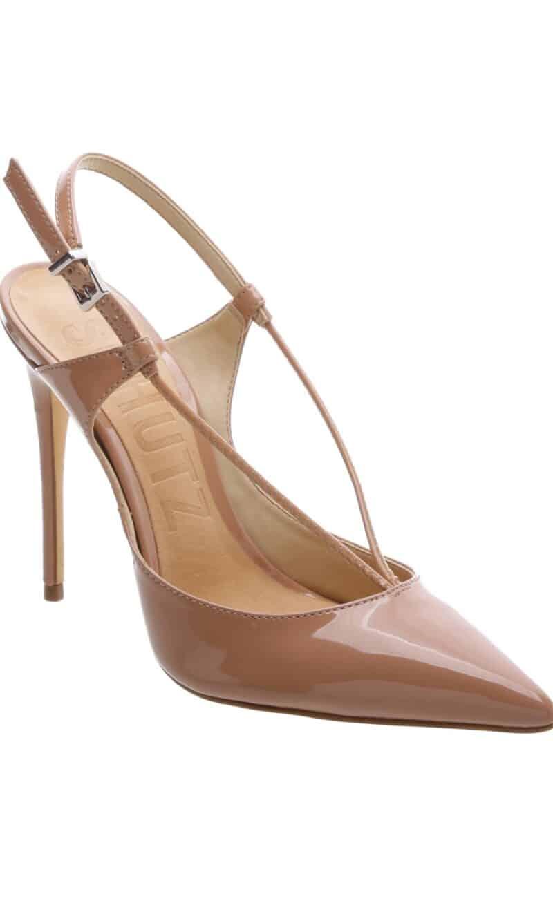 Nude patent leather stiletto heels - SCHUTZ