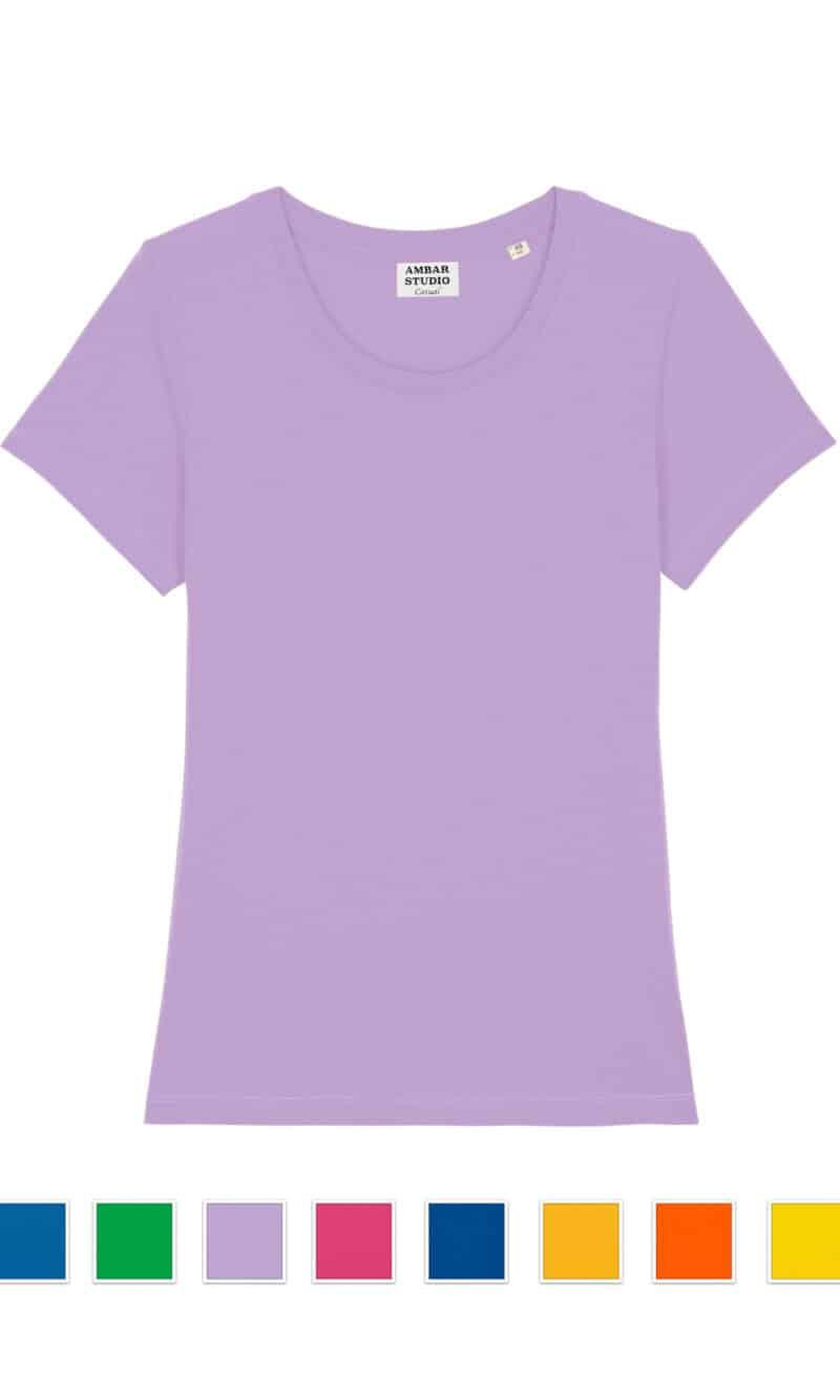 DANCER basic organic cotton t-shirt (bright colours)