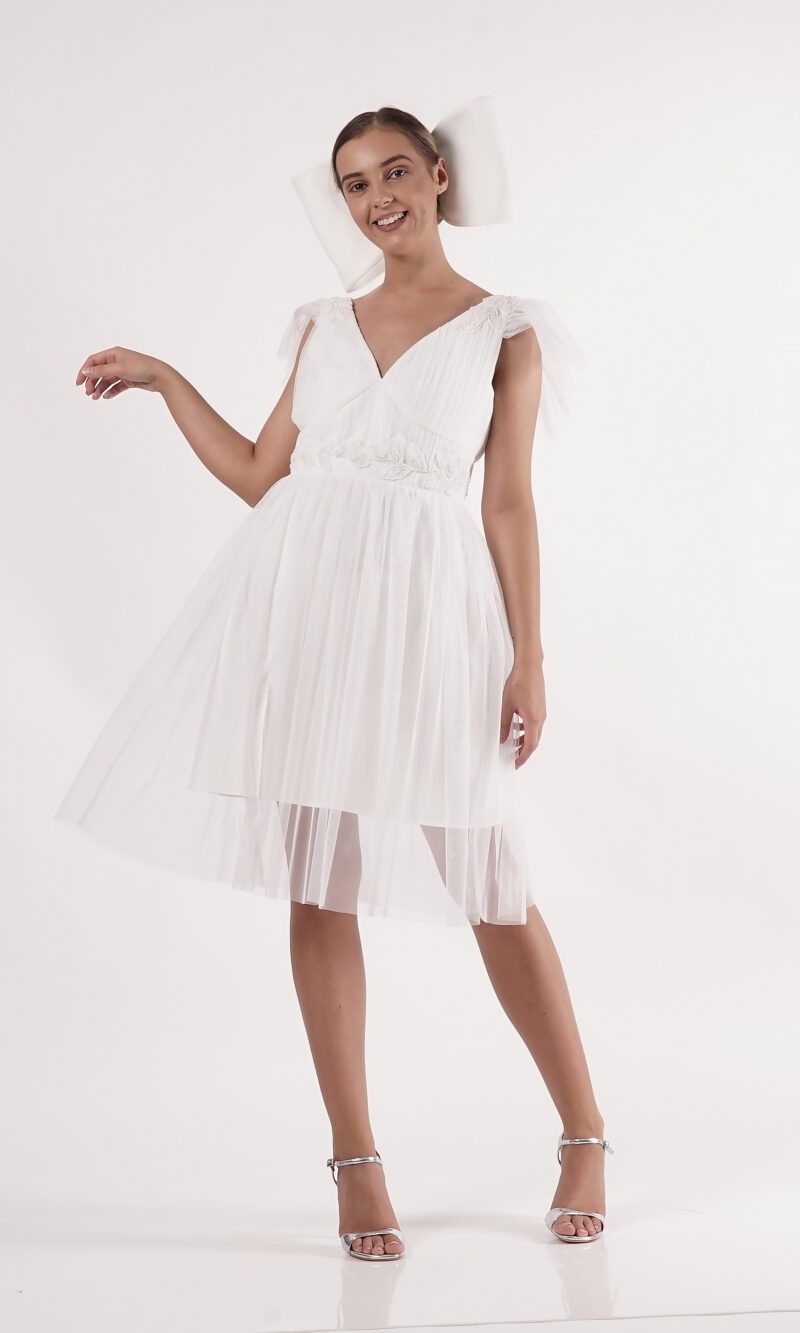 NARYN white goddess mini dress
