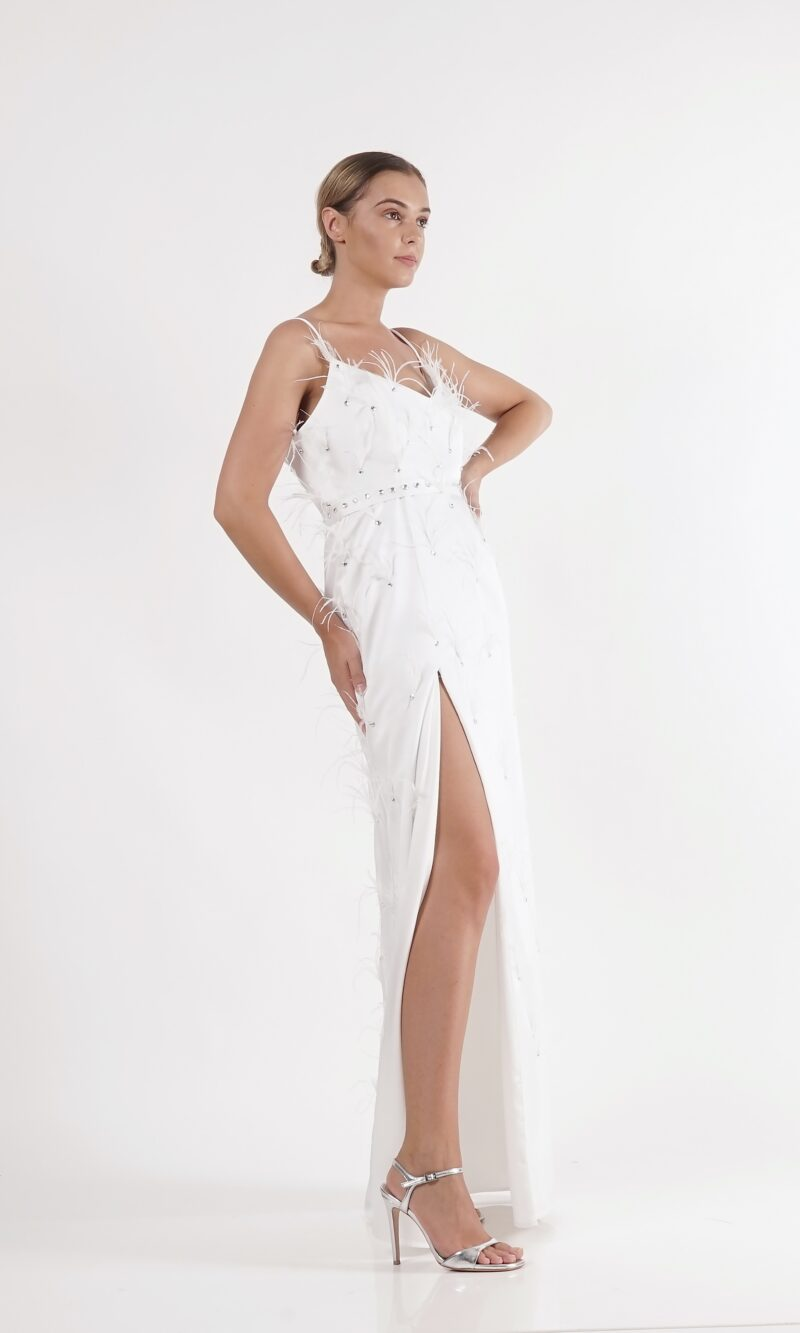 BIANCA white modern bridal dress